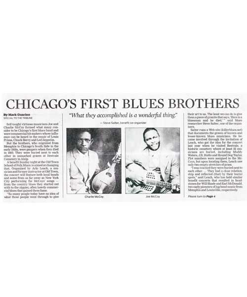 Chicago's First Blues Brothers